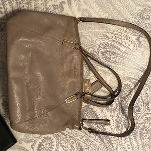 Leather Coach handbag